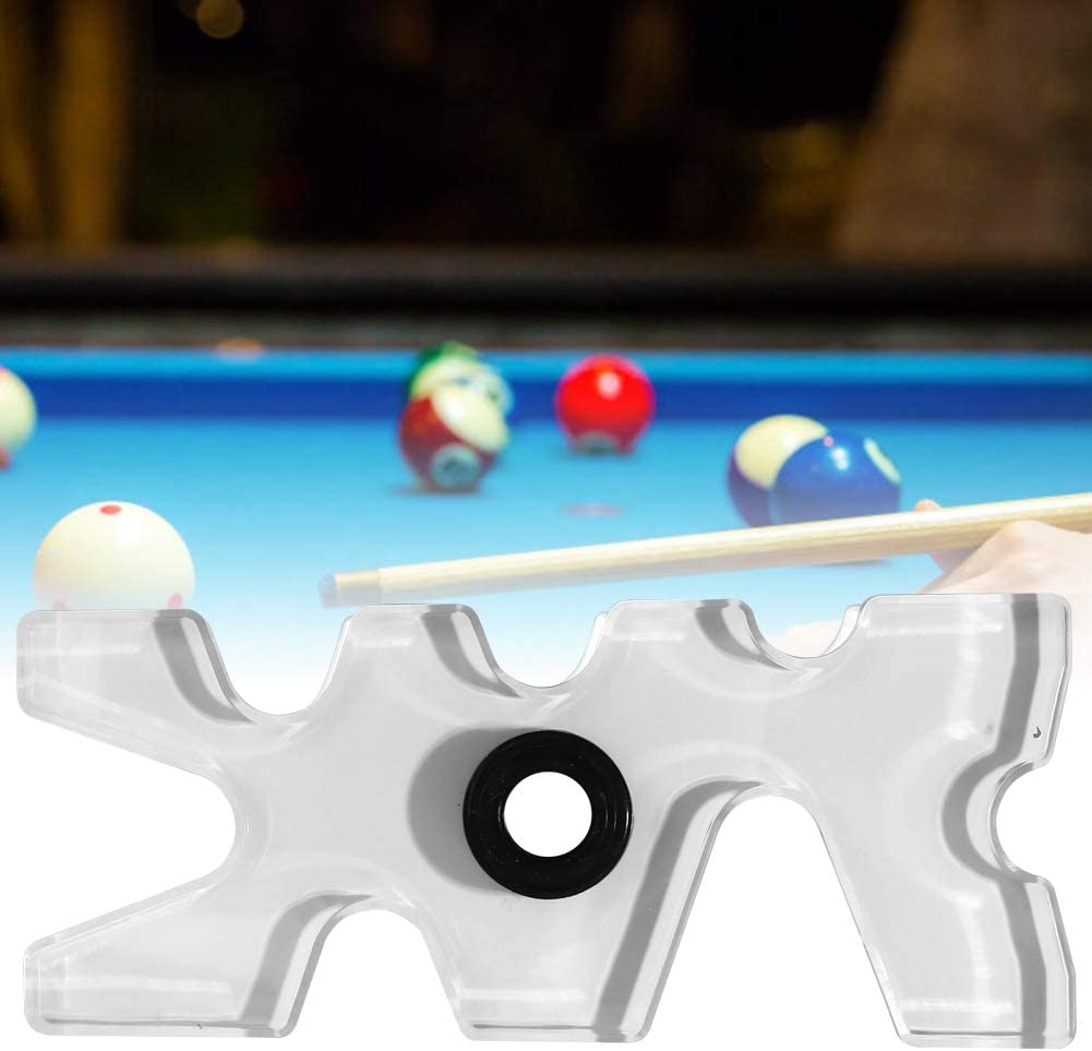 Witekey Billiards Rack Professional Transparent Club Rack Acrylic Easy to Carry for Pool Clubs and Home Use Accessory