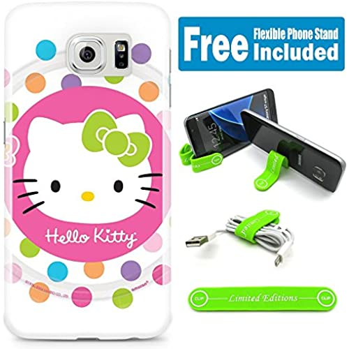 [Ashley Cases] TPU Skin Cover Case for Samsung Galaxy S7 Edge with Flexible Phone Stand - Hello Kitty Lollipop Sales