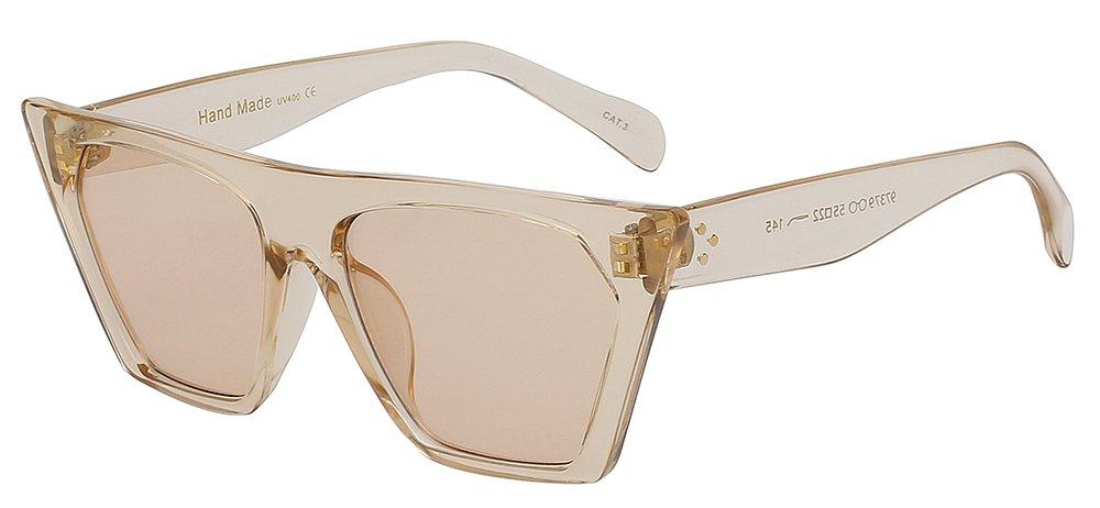 e5023fd8e0 Mejor TIANLIANG04 parte superior plana de Moda Gafas de sol mujer de anteojos  bastidor sobredimensionado moda