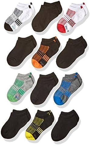 Stride Rite Little Boys' 12 Pack Show, Ben Sport-Assorted Black, Sock: 7-8.5 / Shoe: 10-13