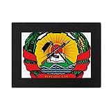 DIYthinker Mozambique Africa National Emblem Desktop Photo Frame Black Picture Art Painting 5x7 inch