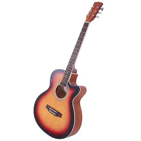 ZZZTDM - Guitarra plegable para principiantes con pícea delantera ...