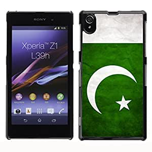 Shell-Star ( National Flag Series-Pakistan ) Snap On Hard Protective Case For SONY Xperia Z1 / L39H / C6902 / C6903 / C6906