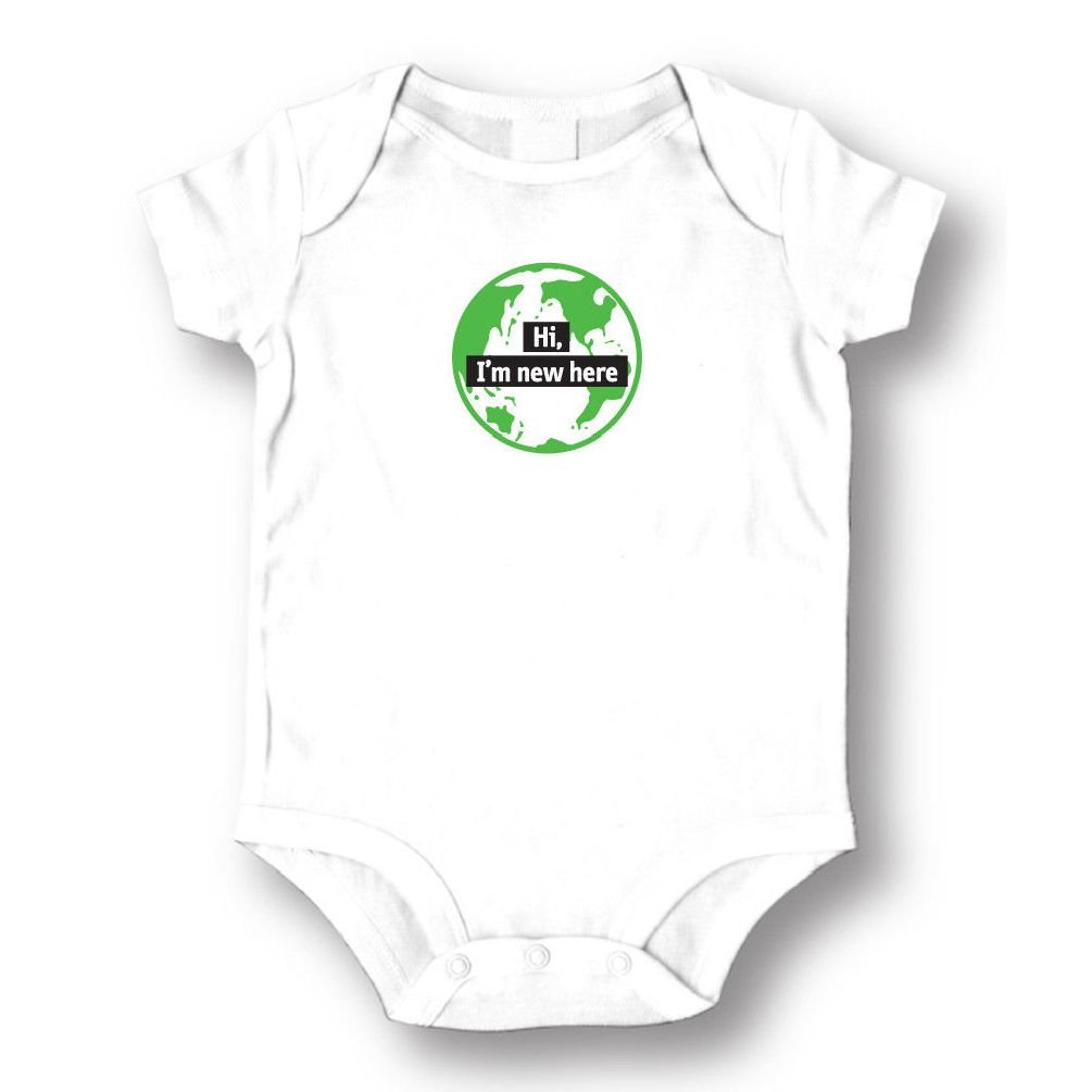 Dustin clothing series Hi I'm New Here Baby Boys Girls Toddlers Funny Romper 0-24M