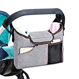 KOBWA Universal Baby Jogger Stroller Organizer Bag/Diaper Bag with Deep Cup Holders and Shoulder Strap. Extra Storage Space for Organize the Baby Accessories and Your Phone