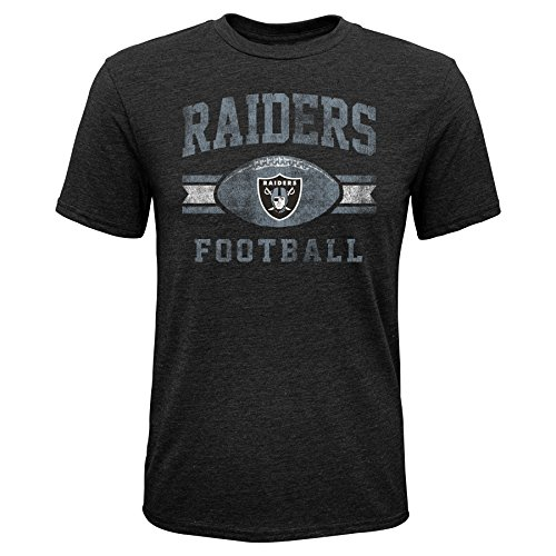 Outerstuff NFL NFL Oakland Raiders Youth Boys Player Pride Short Sleeve Tri-Blend Tee Black, Youth Small(8)