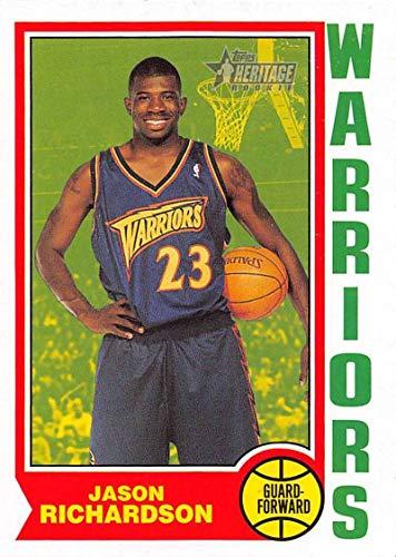 Golden State Warriors Rookie Basketball - 2001-02 Topps Heritage Basketball #59 Jason Richardson RC Rookie Card Golden State Warriors Official NBA Trading Card