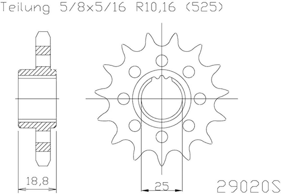 Esjot Antriebsritzel 29020 Ritzel S.Light 16Z 525 50-29020-16S OE 50-29020-16S