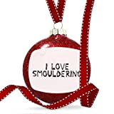 Christmas Decoration I Love Smouldering Coal Grill Fire Place Ornament