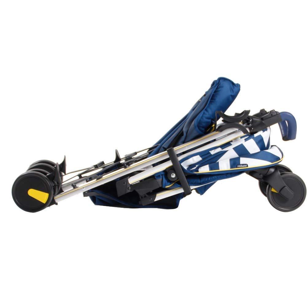 My Babiie MB51 Blue Chevron Stroller