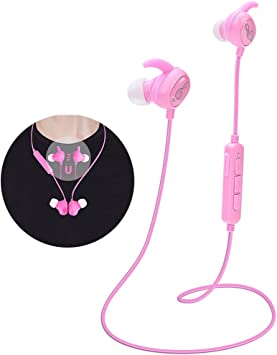 Amazon Com Kids Headphones Pink Headphones Bluetooth Wireless Headphones With Magnetic Earbuds For Kids Girls Stereo Sound With Mic Noise Reduction Wireless Bluetooth Headset For School Travel P1 Electronics