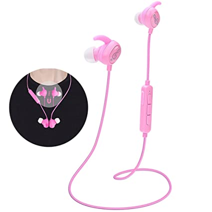 d503dd48481 Kids Headphones, Pink Headphones Bluetooth Wireless Headphones with  Magnetic Earbuds for Kids Girls Stereo Sound