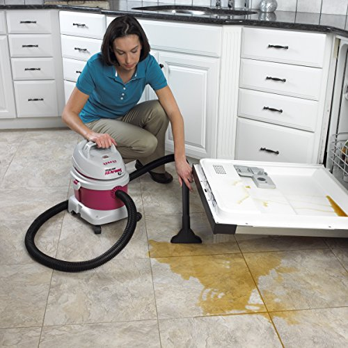 Shop-Vac 5895200 2.5-Peak Horsepower All-around EZ Series Wet/Dry Vacuum 2.5-Gallon With Extension Wands Tool Storage & Wall Bracket Uses Type B Filter Bag & Type R Foam Sleeve