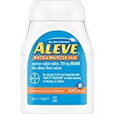 Aleve Back and Muscle Pain Tablets, Fast Acting All Day Targeted Relief for Headache, Muscle, and Back Pain, Naproxen Sodium Capsules, 220 mg