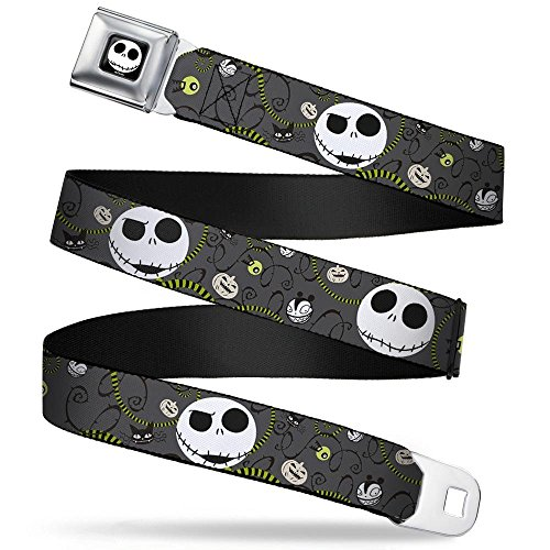 Buckle-Down Seatbelt Belt - NBC Jack Expressions/Halloween Elements Gray - 1.5