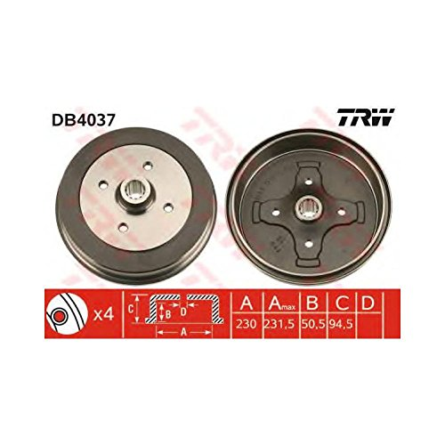 TRW DB4037 Brake Drums: