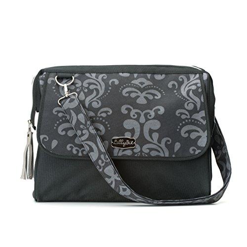 DEMDACO Lillybit Diaper Bag, Damask