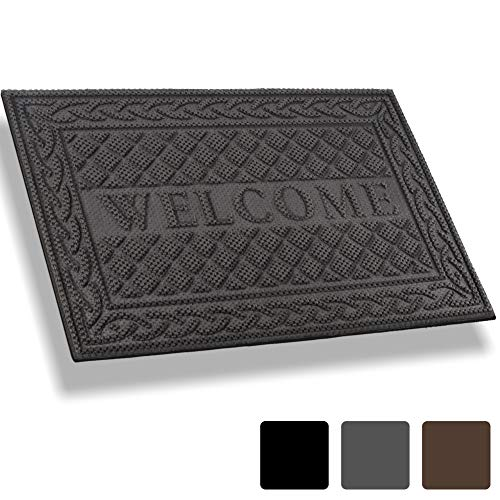 - Mibao Entrance Door Mat, 18 x 30 inch Winter Durable Large Heavy Duty Front Outdoor Rug, Non-Slip Welcome Doormat for Entry, Patio