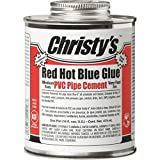 Christys Red Hot Blue Glue PVC Pipe Cement, 16 oz Container
