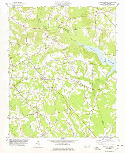 Stancils Chapel NC topo map, 1:24000 scale, 7.5 X 7.5 Minute, Historical, 1978, updated 1978, 26.6 x 21.7 IN - - Park Crocker Map