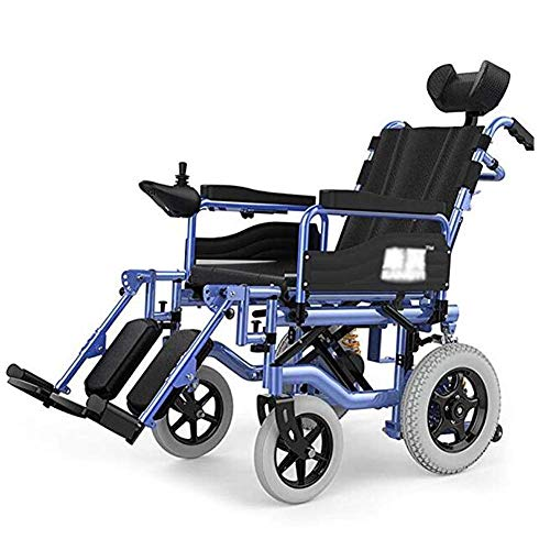 Heavy Duty Electric Wheelchair with Headrest, Foldable and Lightweight Powered Wheelchair,seat Width 50cm,Adjustable Backrest and Pedal Angle,360° Joystick, Weight Capacity 150kg