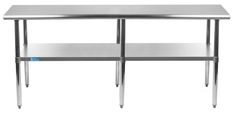"30"" x 96"" Work Table Stainless Steel Food Prep Worktable Restaurant Supply"