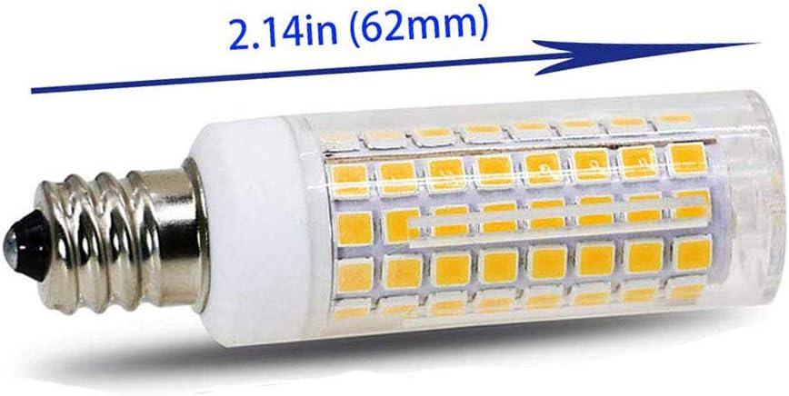 e12 102cw 2pc 850LM 100W E12 Led Bulb Candelabra Light Bulbs 8W Equivalent Ceiling Fan Bulbs 2-Pack LED Chandelier Light Bulbs. Daylight White 6000K Dimmable