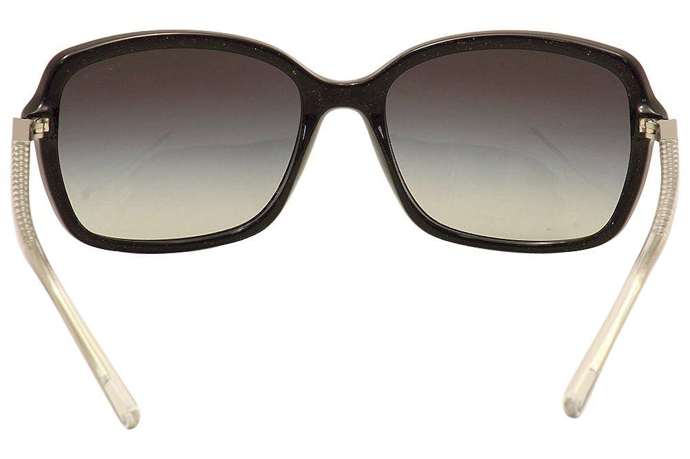 2b791d6fd8 Amazon.com  Coach Womens L136 Sunglasses (HC8152) Black Grey Acetate -  Non-Polarized - 57mm  Clothing