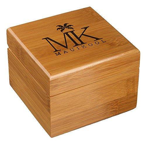 Wooden Watch For Men Women Maui Kool Lahaina Collection Zebrawood Analog Wood Watch Bamboo Gift Box