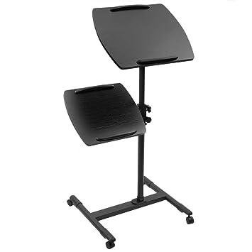 BeMatik - Carrito para proyector y Ordenador portátil. Soporte Negro para Notebook con Ruedas: Amazon.es: Electrónica