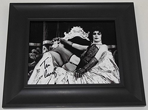 Rocky Horror Picture Show Frank-N-Furter Tim Curry Authentic Signed Autographed B/W 8x10 Glossy Photo Gallery Framed Loa (Dress Rocky Horror)