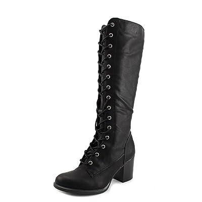Nine West Beasley 3Y Women Round Toe Synthetic Black Knee High Boot