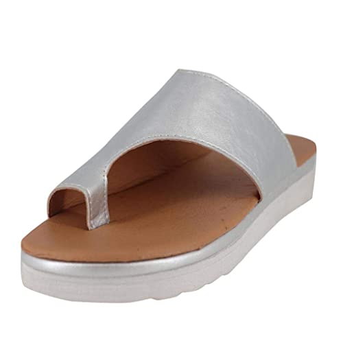 0cdceab15 OverDose Sandales Sandales Femmes Plates en Cuir Chaussures de ...