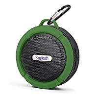Mini Bluetooth Speaker,Retround Outdoor Speaker with Built-in Mic,High Sound Quality,Waterproof,6hrs of Playtime,Rechargeable,for Travel Green