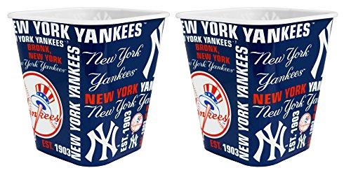 New York Yankees 3 Liter Reusable Plastic Snack Bucket 2 Pack