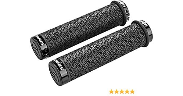 SRAM Locking MTB Handlebar Grips with Lock-On Double Clamps /& Plugs 130mm White