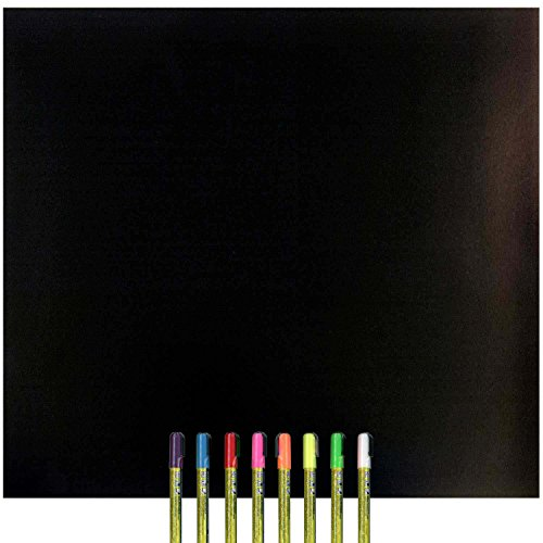 Cohas Magnetic Backed Board includes Liquid Chalk Marker,...