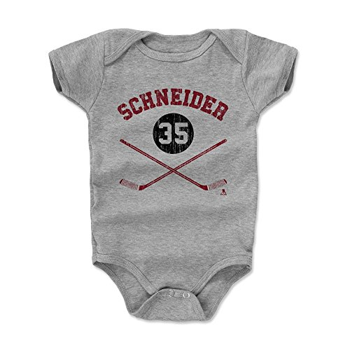 500 LEVEL's Cory Schneider New Jersey Hockey Baby Clothes, Onesie, Creeper, Bodysuit - 6-12 Months Heather Gray - Cory Schneider Sticks R