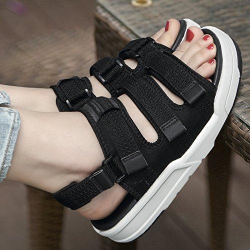 Zapatos Amantes Playa Mujer De Oscuro Libre Casual Estudiante lin Dama Calzado Gris Verano 44 Sandalias De Sandalias De Calzado Al xing Aire qwSBXxAgc