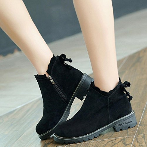 Boots Short Booties Butterfly Boots Women Ankle Black Boots Wedge Fashion Womens Shoes Low Honestyi FxqIUwXYI