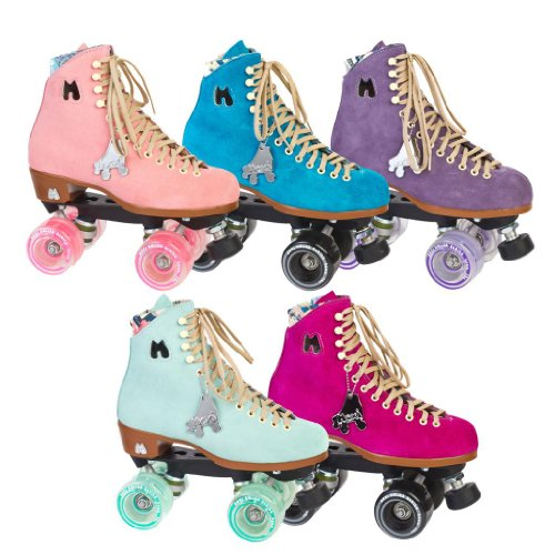 Moxi Lolly Suede High Top Outdoor Roller Skates