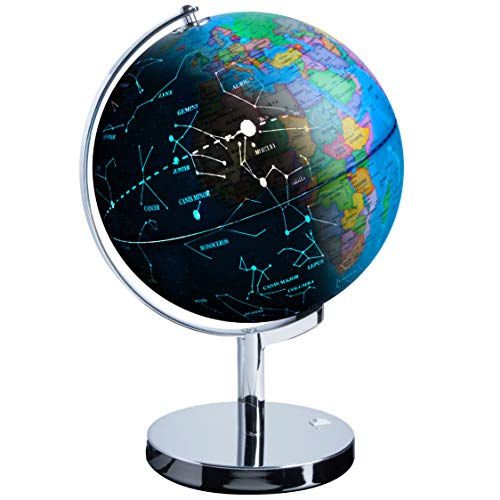 Globe Of The World (USA Toyz Illuminated Constellation World Globe for Kids - 3 in 1 Interactive Globe with Constellations, Light Up Smart Earth Globes of The World with)
