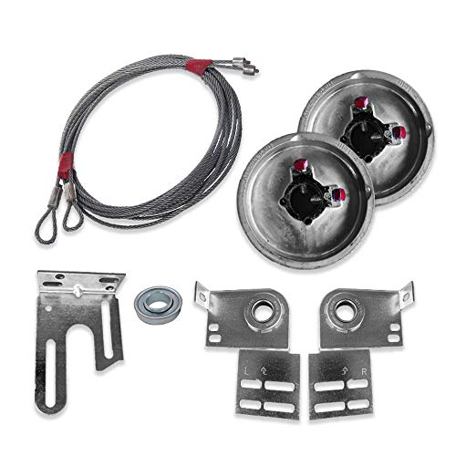 Garage Door Torsion Spring Conversion Kit for 7' High Door End Bearing Plates and Cable Drum