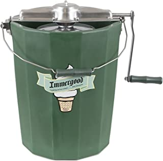 product image for PREMIUM 8 qt. - Immergood Ice Cream Maker - Stainless Steel - Hand Crank