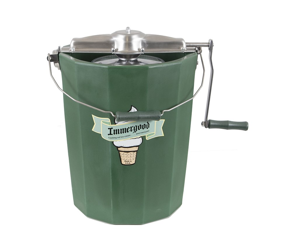 PREMIUM 8 qt. - Immergood Ice Cream Maker - Stainless Steel - Hand Crank