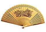 Panda Superstore Folding Hand Fan Folding Fans Chinese Fan Hand Fan Hand Held Fans Chinese Style