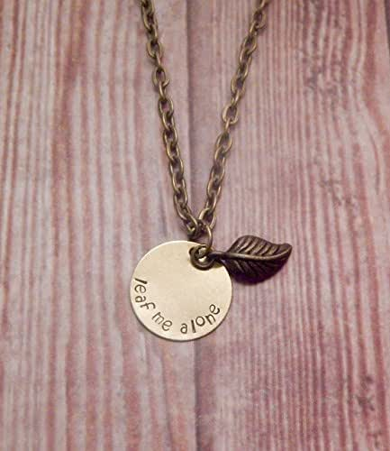 Leaf Me Alone Pun Necklace - Introvert Necklace