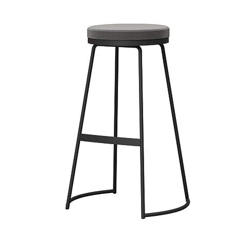 Amazon.com: Home Bar Furniture - Taburete redondo de hierro ...