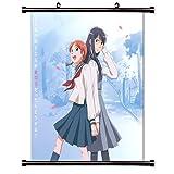 Aoi Hana (Sweet Blue Flowers) Anime Fabric Wall Scroll Poster (16 x 16) Inches. [WP]Aoi Hana-3