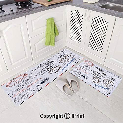 Non-Slip Soft Kitchen Mat Bath Rug Doormat Runner Carpet Set(19.6